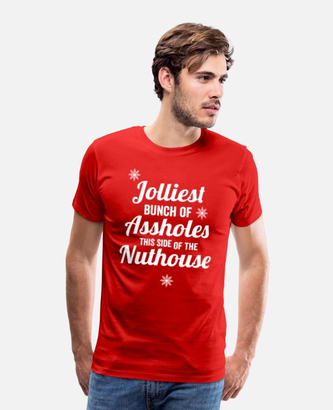 Side T-Shirts - Jolliest Bunch - Men's Premium T-Shirt red