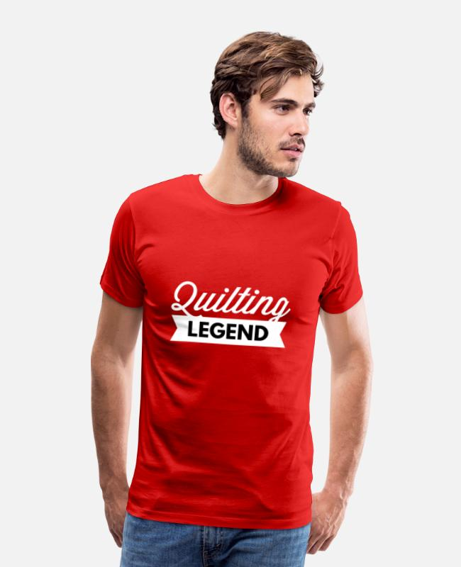 Quote T-Shirts - Quilting Legend - Men's Premium T-Shirt red