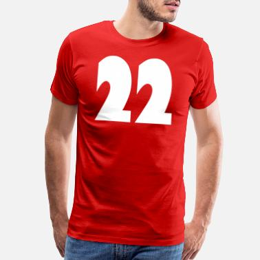 Nineteen ❤️★Number Twenty-Two Best Jersy Number & Best Age - Men's Premium T-Shirt
