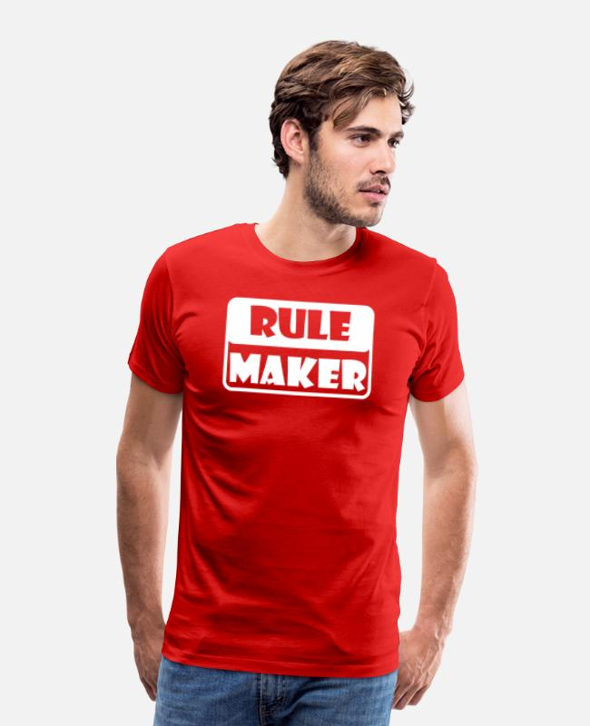 Movie T-Shirts - Rule Maker - Men's Premium T-Shirt red