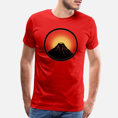 Eruption Volcano patch with liquid lava - Men's Premium T-Shirt