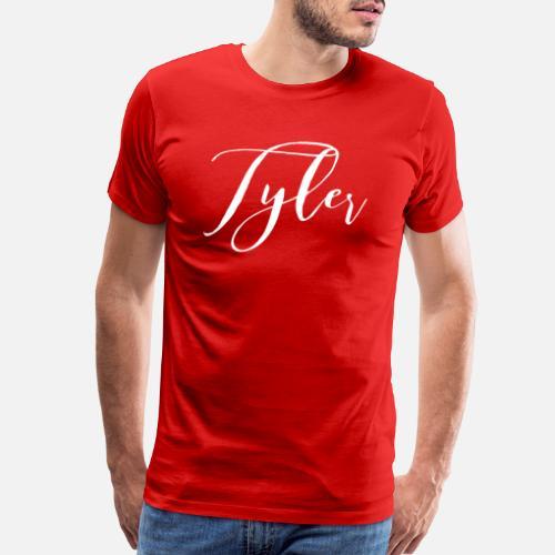 5d6547479201 Tyler - Men s Premium T-Shirt. Back. Back. Design. Front