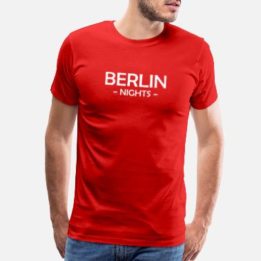 Kreuzberg Berlin Nights - Fernsehturm - Alexanderplatz - Men's Premium T-Shirt