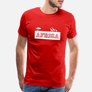 Lynx Africa - Elephant - Safari - Lion - Rhinoceros - Men's Premium T-Shirt