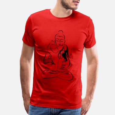 Tantra Tantra Buddha Combining sexuality and spirituality - Men's Premium T-Shirt