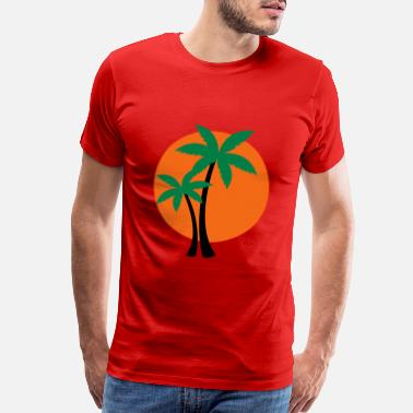 Trees palm trees - Men's Premium T-Shirt