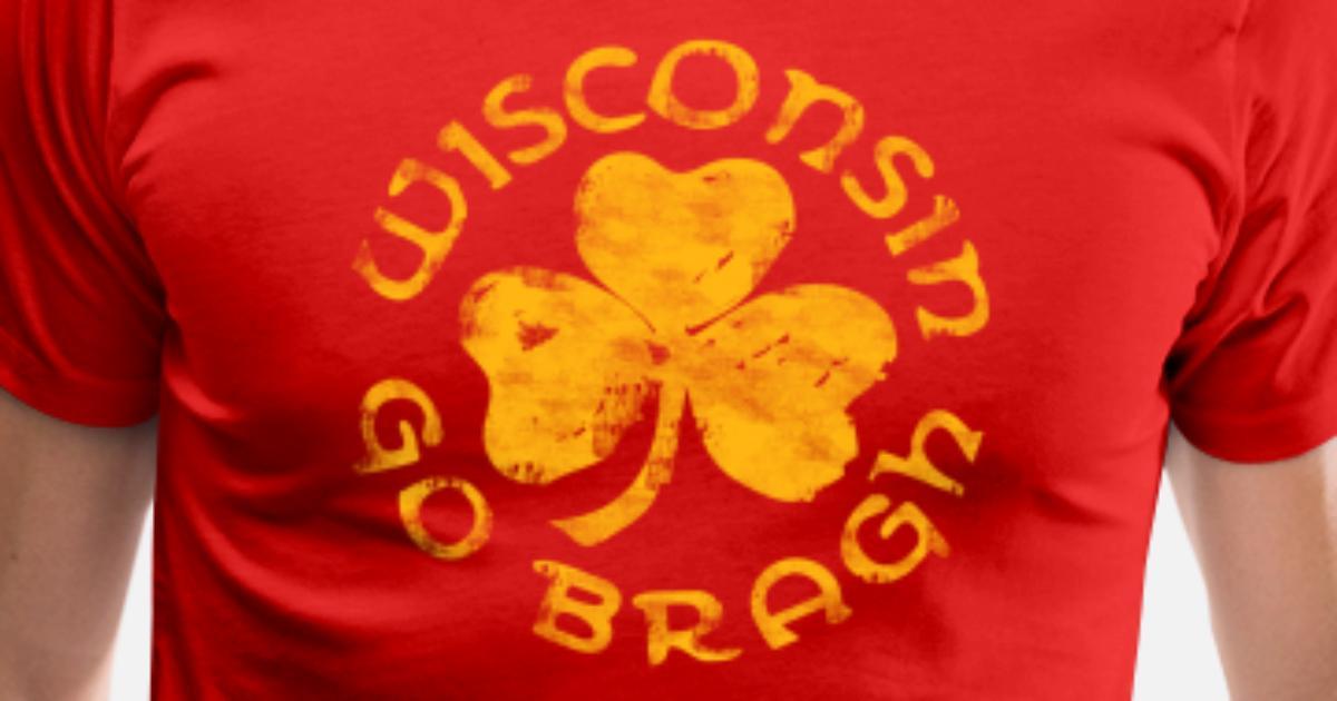 Wisconsin State Shamrock Tri-Blend T-Shirt