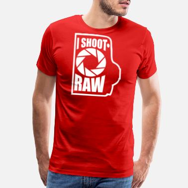 Raw I shoot RAW - Men's Premium T-Shirt