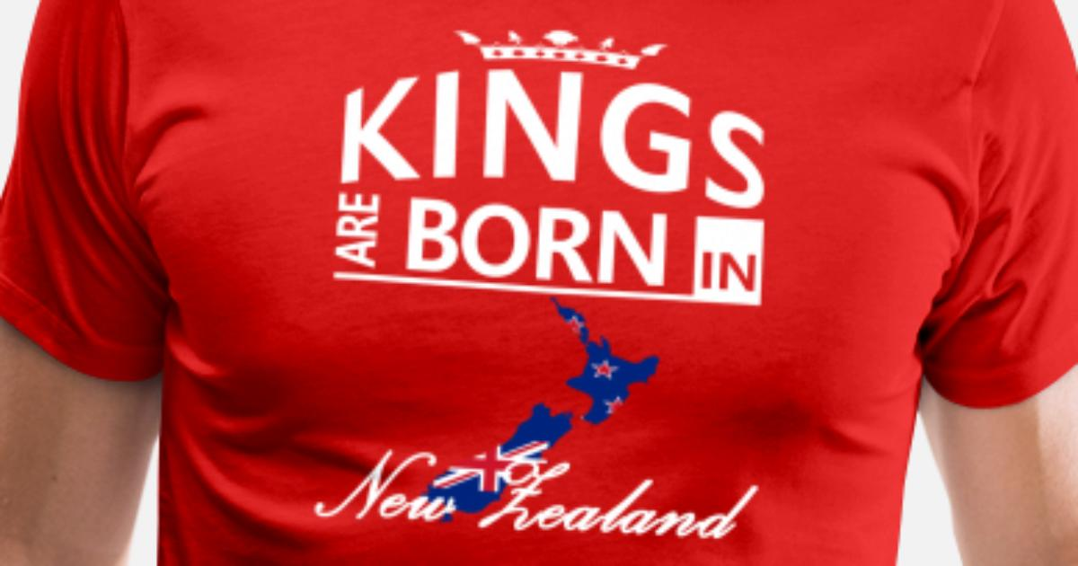 Mens Premium T ShirtNew Zealand Born Kings Dad Husband Birthday Gift