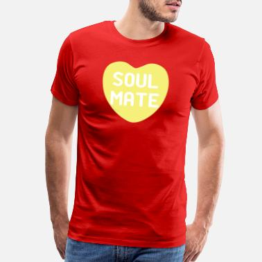 Soul Mate Couples Soul Mate Yellow Candy Heart - Men's Premium T-Shirt