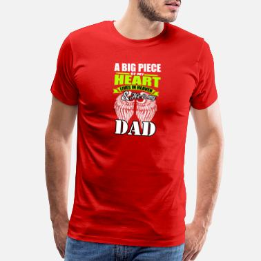 Angel's Wings ANGEL DAD - Men's Premium T-Shirt