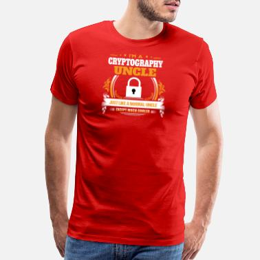 Cryptography Cryptography Uncle Shirt Gift Idea - Men's Premium T-Shirt