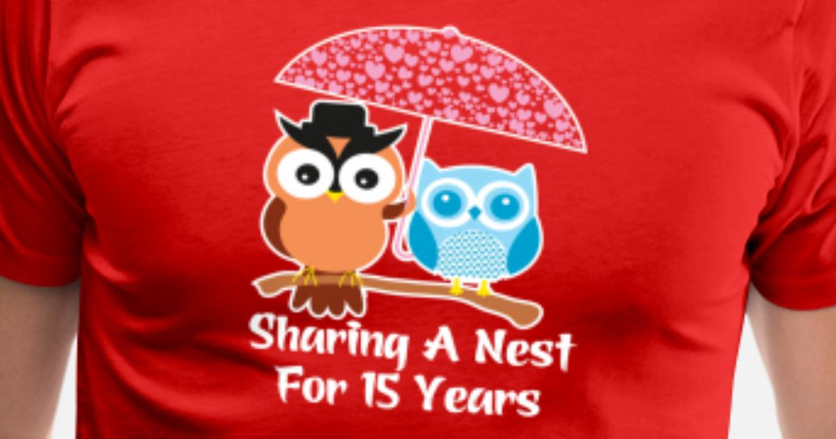15 Years Wedding Anniversary Gifts Valentines Day Mens Premium T