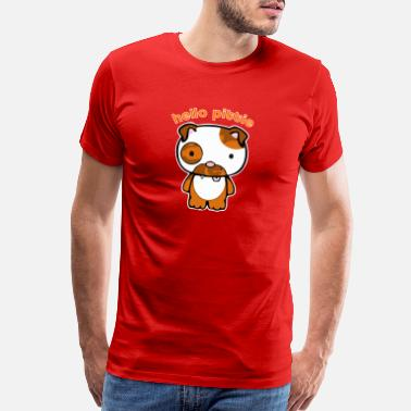 Pittie Hello Pittie - Men's Premium T-Shirt