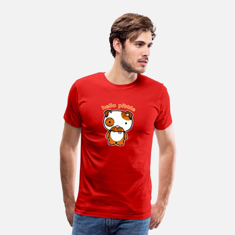 Dog Owner T-Shirts - Hello Pittie - Men's Premium T-Shirt red