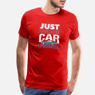 Vintage Just One More Car I Promise - Men's Premium T-Shirt
