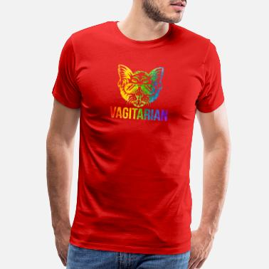 Proud-to-be-transgender Funny Lesbian Vagitarian Cat LGBT Pride - Men's Premium T-Shirt