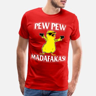 Advertising CAT PEW PEW MADAFAKAS VINTAGE SHIRT - Men's Premium T-Shirt