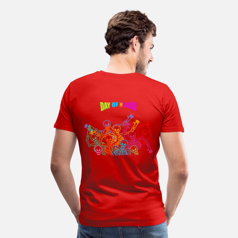 Flowers T-Shirts - Day of the dead - Men's Premium T-Shirt red