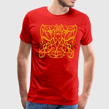tribal pinstriping - Men's Premium T-Shirt
