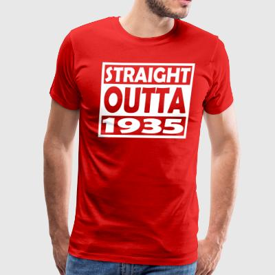 82nd Birthday T Shirt Straight Outta 1935 - Men's Premium T-Shirt