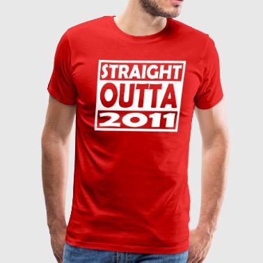 6th Birthday T Shirt Straight Outta 2011 - Men's Premium T-Shirt