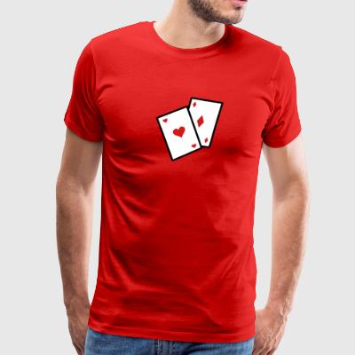 Gambling Poker Cards - Men's Premium T-Shirt