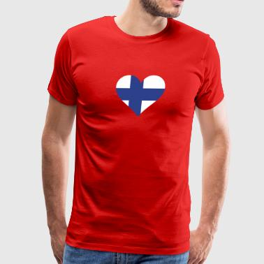 A Heart For Finland - Men's Premium T-Shirt