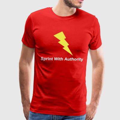 Sprint With Authority T-shirts and Hoodies - Men's Premium T-Shirt