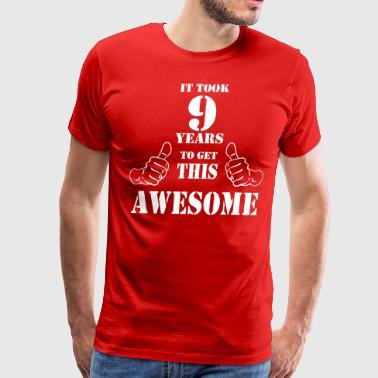 9th Birthday Get Awesome T Shirt Made in 2008 - Men's Premium T-Shirt