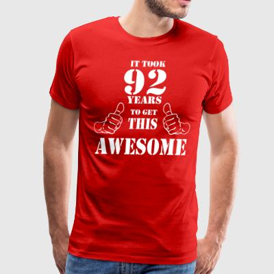 92nd Birthday Get Awesome T Shirt Made in 1925 - Men's Premium T-Shirt