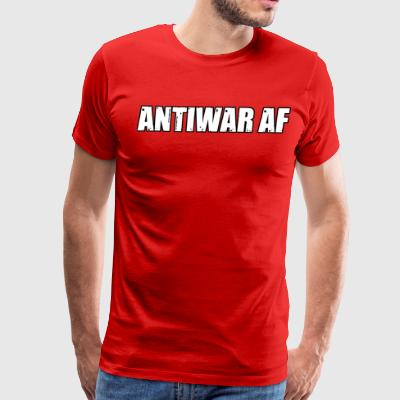 ANTIWAR AF BLK Border - Men's Premium T-Shirt