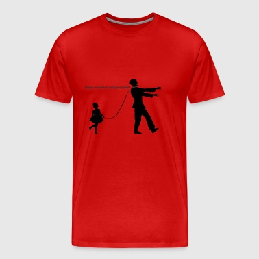 Walk your Zombie - Men's Premium T-Shirt
