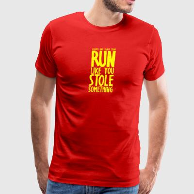 Cooper High Track Team Run Like You Stole Somethin - Men's Premium T-Shirt