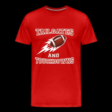 Tailgates and Touchdowns Thanksgiving Football - Men's Premium T-Shirt