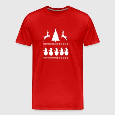Christmass Scene - Men's Premium T-Shirt