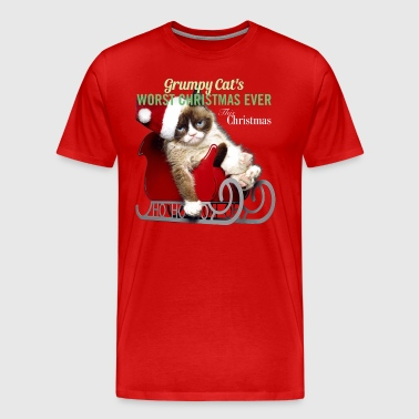 GRUMPY CAT'S WORST CHRISTMAS EVER - Men's Premium T-Shirt