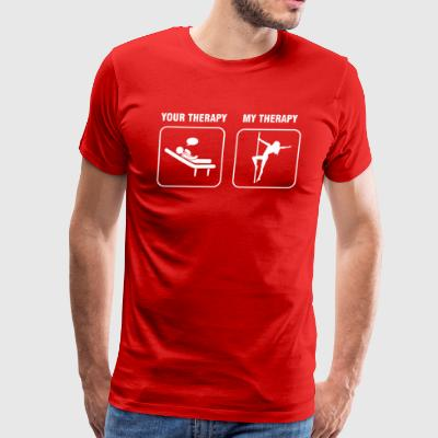 Poledancing is my therapy tshirt - Men's Premium T-Shirt