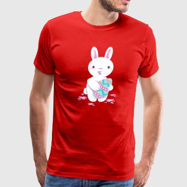 Cute Easter Bunny, Happy Easter Day - Men's Premium T-Shirt