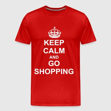Keep Calm And go shopping - Men's Premium T-Shirt