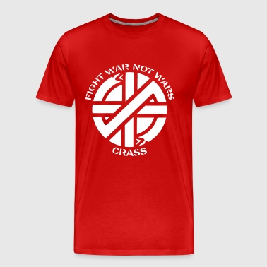 Crass fight war not war - Men's Premium T-Shirt
