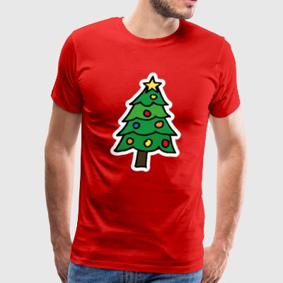 Christmas Tree Illustration T shirt - Men's Premium T-Shirt