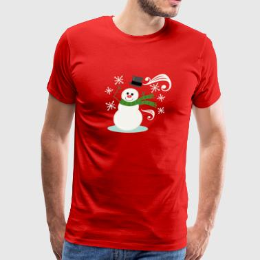 Windy Snowman - Men's Premium T-Shirt