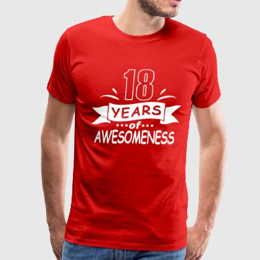18 years of awesomeness - Men's Premium T-Shirt