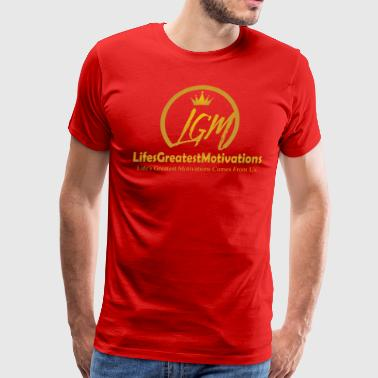 Lifesgreatestmotivation gold - Men's Premium T-Shirt