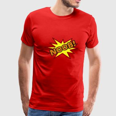 Comic Style NOOB! - Gamer - Men's Premium T-Shirt