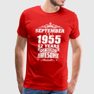 Men's An Old Man Who Was Born In September 1955 - Men's Premium T-Shirt