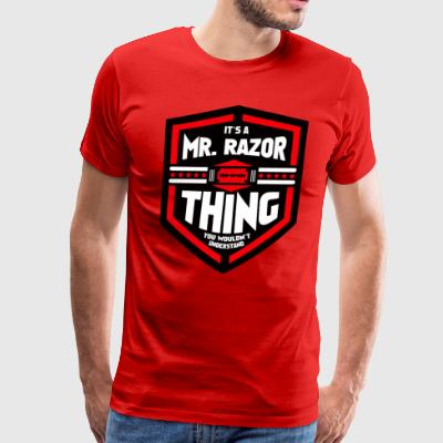 It's a Mr Razor Thing Trini - Men's Premium T-Shirt
