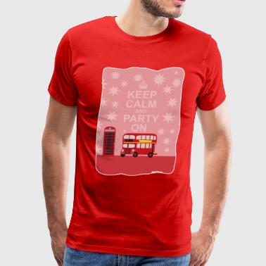 Keep Calm Party On - Men's Premium T-Shirt
