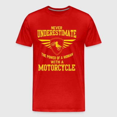 The power of a woman with a motorcycle - Men's Premium T-Shirt